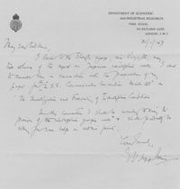 Letter to Mr Wilkins from E.V.Appleton. Januray 31st 		    1947.